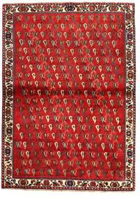 Shiraz Alfombra 110X157 Oriental Hecha A Mano Rojo Oscuro/Óxido/Roja (Lana, Persia/Irán)