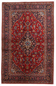 Keshan Alfombra 134X208 Oriental Hecha A Mano Rojo Oscuro/Negro (Lana, Persia/Irán)