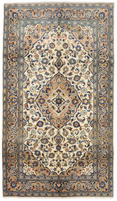 Keshan Alfombra 143X250 Oriental Hecha A Mano Beige/Gris Oscuro (Lana, Persia/Irán)