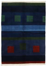 Gabbeh Indo Alfombra 144X197 Moderna Hecha A Mano Azul Oscuro (Lana, India)