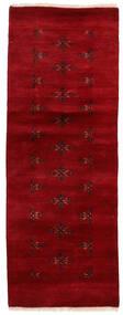 Huttan Alfombra 65X172 Oriental Hecha A Mano Rojo Oscuro (Lana, Pakistán)