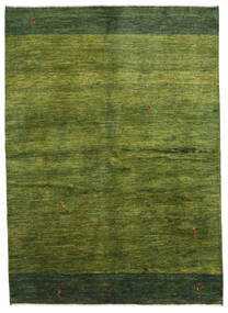 Gabbeh Persia Alfombra 165X230 Moderna Hecha A Mano Verde Oscuro/Verde Oliva (Lana, Persia/Irán)