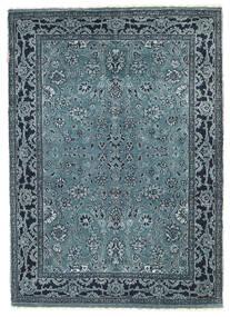 Gabbeh Loribaft Alfombra 90X127 Moderna Hecha A Mano Azul/Azul Oscuro/Gris Claro (Lana, India)