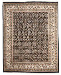 Nain Indo Alfombra 205X258 Oriental Hecha A Mano Gris Claro/Gris Oscuro ( India)