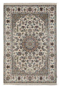 Nain Indo Alfombra 172X250 Oriental Hecha A Mano Gris Oscuro/Beige ( India)