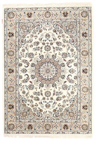 Nain Indo Alfombra 125X181 Oriental Hecha A Mano Beige/Gris Claro ( India)