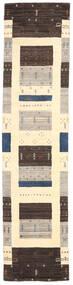 Loribaf Loom Alfombra 80X243 Moderna Hecha A Mano Marrón Oscuro/Beige/Gris Claro (Lana, India)