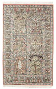 Cachemira Pura De Seda Alfombra 77X127 Oriental Hecha A Mano Marrón Oscuro/Beige (Seda, India)