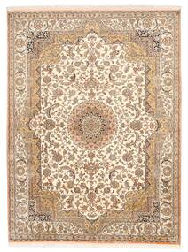 Cachemira Pura De Seda Alfombra 157X211 Oriental Hecha A Mano Marrón/Beige (Seda, India)