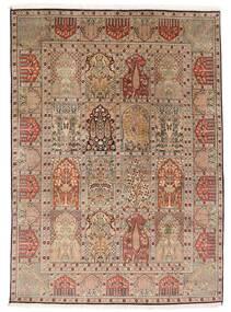 Cachemira Pura De Seda Alfombra 151X210 Oriental Hecha A Mano Marrón/Marrón Claro (Seda, India)