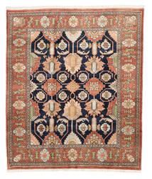 Heriz Alfombra 209X249 Oriental Hecha A Mano Marrón Claro/Gris Oscuro (Lana, Persia/Irán)