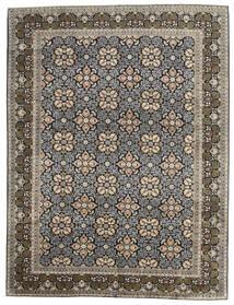 Keshan Alfombra 289X381 Oriental Hecha A Mano Gris Claro/Gris Oscuro Grande (Lana, Persia/Irán)
