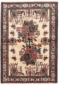 Afshar/Sirjan Alfombra 102X144 Oriental Hecha A Mano Beige/Negro (Lana, Persia/Irán)