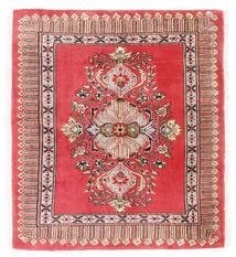 Kashmar Alfombra 75X84 Oriental Hecha A Mano Rojo Oscuro/Roja (Lana, Persia/Irán)