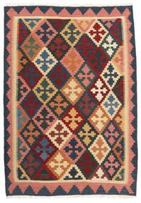 Kilim Alfombra 103X150 Oriental Tejida A Mano Gris Oscuro/Rojo Oscuro (Lana, Persia/Irán)