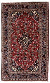 Keshan Alfombra 148X247 Oriental Hecha A Mano Rojo Oscuro/Negro (Lana, Persia/Irán)