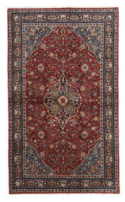 Keshan Alfombra 130X214 Oriental Hecha A Mano Rojo Oscuro/Negro/Gris Oscuro (Lana, Persia/Irán)