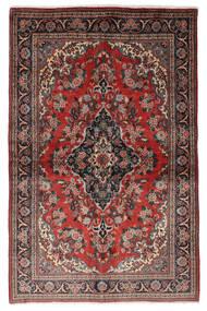 Ghom Kork/De Seda Alfombra 139X212 Oriental Hecha A Mano Rojo Oscuro/Negro (Lana/Seda, Persia/Irán)