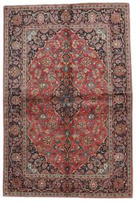Keshan Alfombra 140X215 Oriental Hecha A Mano Rojo Oscuro/Negro (Lana, Persia/Irán)