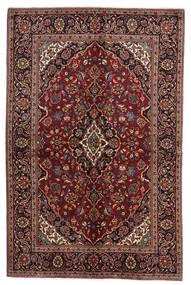 Keshan Alfombra 141X212 Oriental Hecha A Mano Rojo Oscuro/Gris Oscuro (Lana, Persia/Irán)