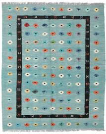 Kilim Nimbaft Alfombra 157X200 Moderna Tejida A Mano Verde Pastel/Azul Turquesa (Lana, Afganistán)