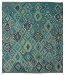 Kilim Afghan Old Style Alfombra 215X245 Oriental Tejida A Mano Azul Turquesa/Azul (Lana, Afganistán)