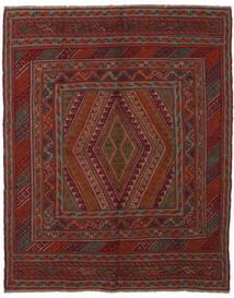 Kilim Golbarjasta Alfombra 145X185 Oriental Tejida A Mano Negro/Marrón Oscuro (Lana, Afganistán)
