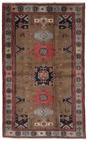 Hamadan Alfombra 121X191 Oriental Hecha A Mano Marrón Oscuro/Negro (Lana, Persia/Irán)