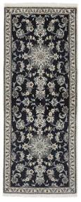 Nain Alfombra 78X197 Oriental Hecha A Mano Negro/Beige (Lana, Persia/Irán)