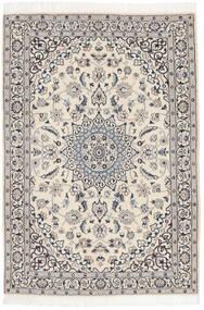 Nain 9La Alfombra 117X169 Oriental Hecha A Mano Gris Claro/Gris Oscuro/Beige Oscuro (Lana/Seda, Persia/Irán)