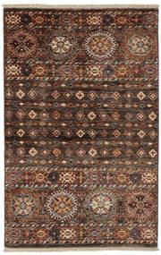 Shabargan Alfombra 86X134 Moderna Hecha A Mano Negro/Marrón Oscuro (Lana, Afganistán)