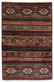 Shabargan Alfombra 84X125 Moderna Hecha A Mano Negro/Marrón Oscuro (Lana, Afganistán)