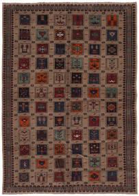 Belouch Alfombra 207X290 Oriental Hecha A Mano Negro/Marrón Oscuro (Lana, Afganistán)