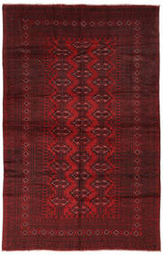 Belouch Alfombra 190X293 Oriental Hecha A Mano Negro/Rojo Oscuro (Lana, Afganistán)