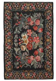 Kilim Rose Moldavia Alfombra 218X340 Oriental Tejida A Mano Negro/Marrón Oscuro (Lana, Moldavia)