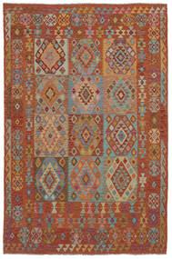 Kilim Afghan Old Style Alfombra 202X302 Oriental Tejida A Mano Marrón Oscuro (Lana, Afganistán)