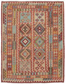 Kilim Afghan Old Style Alfombra 170X205 Oriental Tejida A Mano Marrón Oscuro/Marrón (Lana, Afganistán)