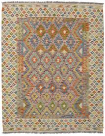 Kilim Afghan Old Style Alfombra 160X203 Oriental Tejida A Mano Marrón Oscuro/Marrón (Lana, Afganistán)
