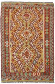 Kilim Afghan Old Style Alfombra 122X184 Oriental Tejida A Mano Marrón Oscuro/Marrón (Lana, Afganistán)