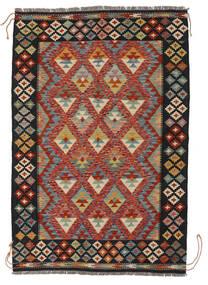 Kilim Afghan Old Style Alfombra 129X190 Oriental Tejida A Mano Negro/Blanco/Crema (Lana, Afganistán)