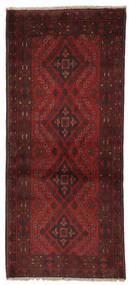 Afghan Khal Mohammadi Alfombra 84X194 Oriental Hecha A Mano Negro/Beige (Lana, Afganistán)