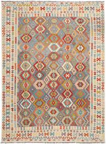 Kilim Afghan Old Style Alfombra 257X349 Oriental Tejida A Mano Marrón Claro/Beige Oscuro Grande (Lana, Afganistán)
