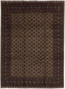 Afghan Alfombra 255X343 Oriental Hecha A Mano Negro/Marrón Oscuro Grande (Lana, Afganistán)