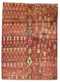Moroccan Berber - Afghanistan Alfombra 124X167 Moderna Hecha A Mano Rojo Oscuro/Marrón Oscuro (Lana, Afganistán)