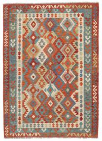 Kilim Afghan Old Style Alfombra 174X243 Oriental Tejida A Mano Marrón Oscuro/Rojo Oscuro (Lana, Afganistán)