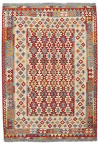 Kilim Afghan Old Style Alfombra 170X247 Oriental Tejida A Mano Marrón Oscuro/Rojo Oscuro (Lana, Afganistán)
