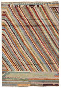 Moroccan Berber - Afghanistan Alfombra 120X174 Moderna Hecha A Mano Marrón Oscuro/Verde Oscuro (Lana, Afganistán)