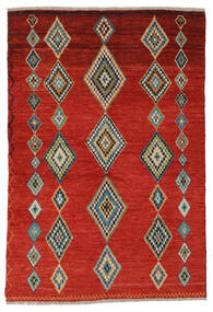 Moroccan Berber - Afghanistan Alfombra 139X204 Moderna Hecha A Mano Rojo Oscuro/Beige (Lana, Afganistán)