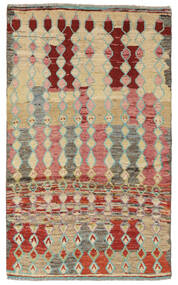 Moroccan Berber - Afghanistan Alfombra 108X187 Moderna Hecha A Mano Marrón Oscuro/Beige (Lana, Afganistán)