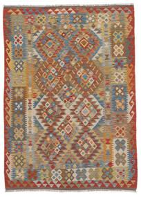 Kilim Afghan Old Style Alfombra 130X170 Oriental Tejida A Mano Marrón Oscuro/Marrón (Lana, Afganistán)